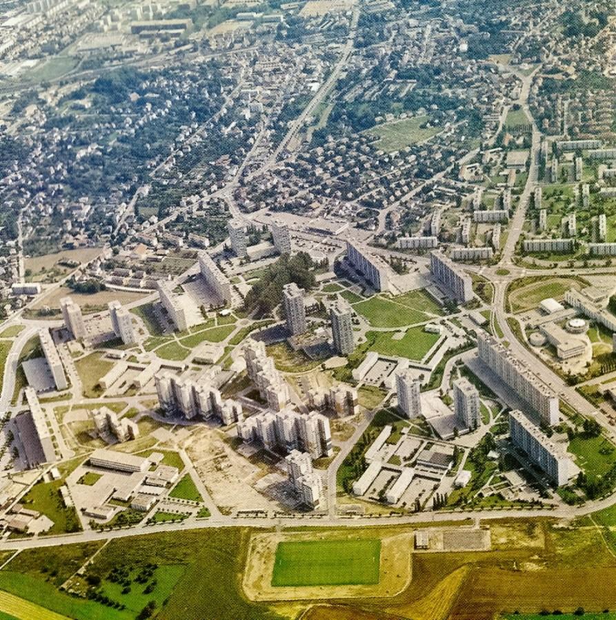 Le quartier des coteaux en 1976 for Espace vert mulhouse