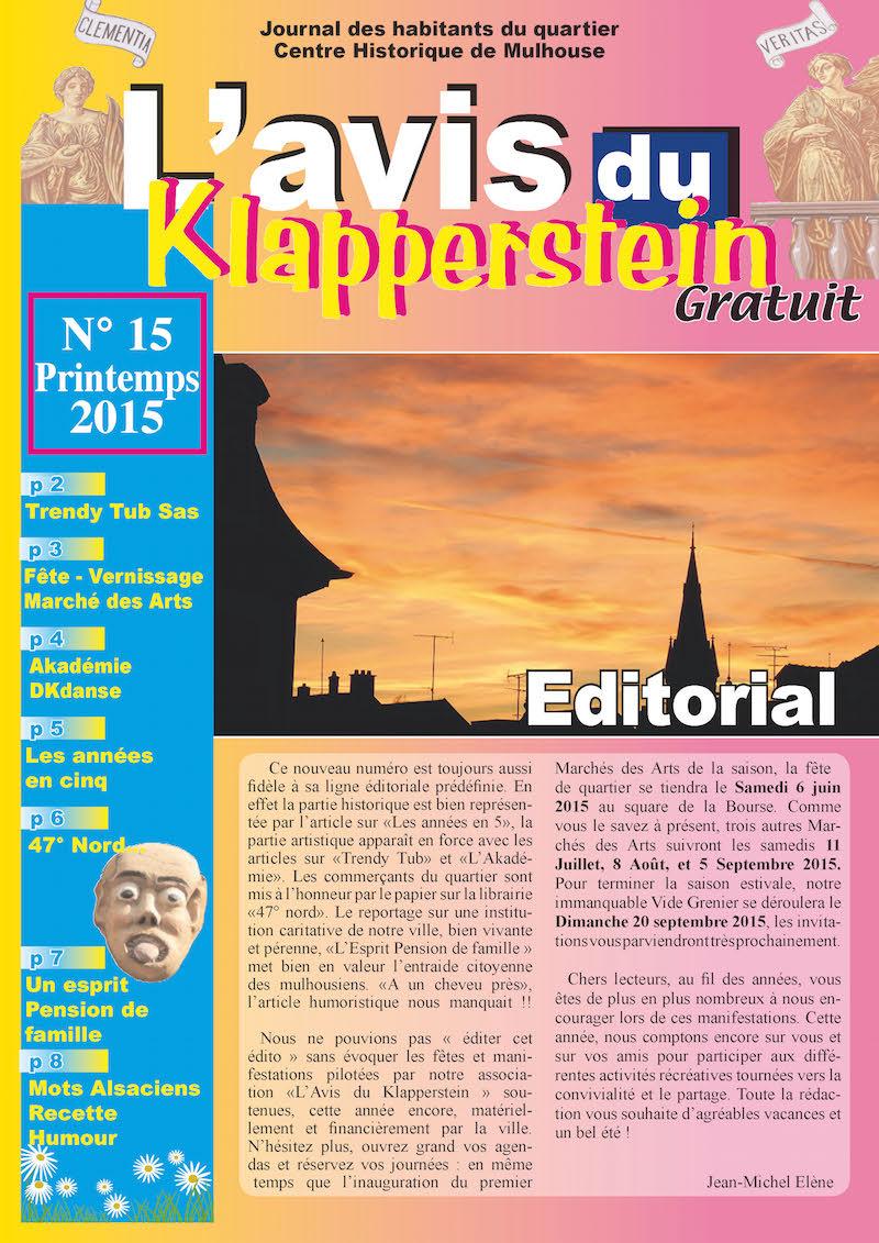 15ème édition du Journal L'Avis du Klapperstein